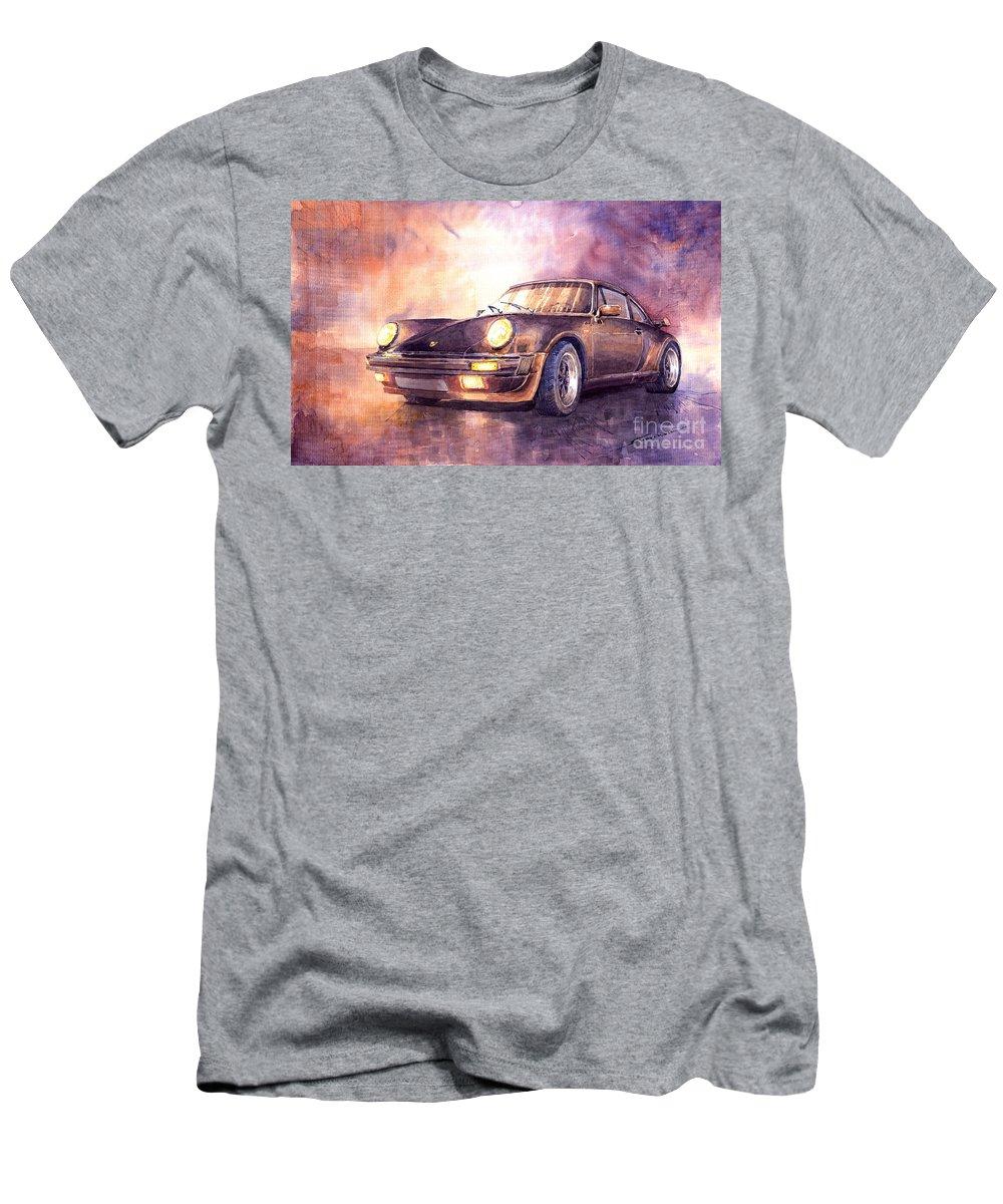 Shevchukart T-Shirt featuring the painting Porsche 911 Turbo 1979 by Yuriy Shevchuk