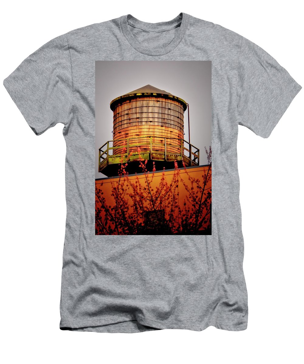Water Tower Men's T-Shirt (Athletic Fit) featuring the photograph Portland Water Tower IIi by Albert Seger