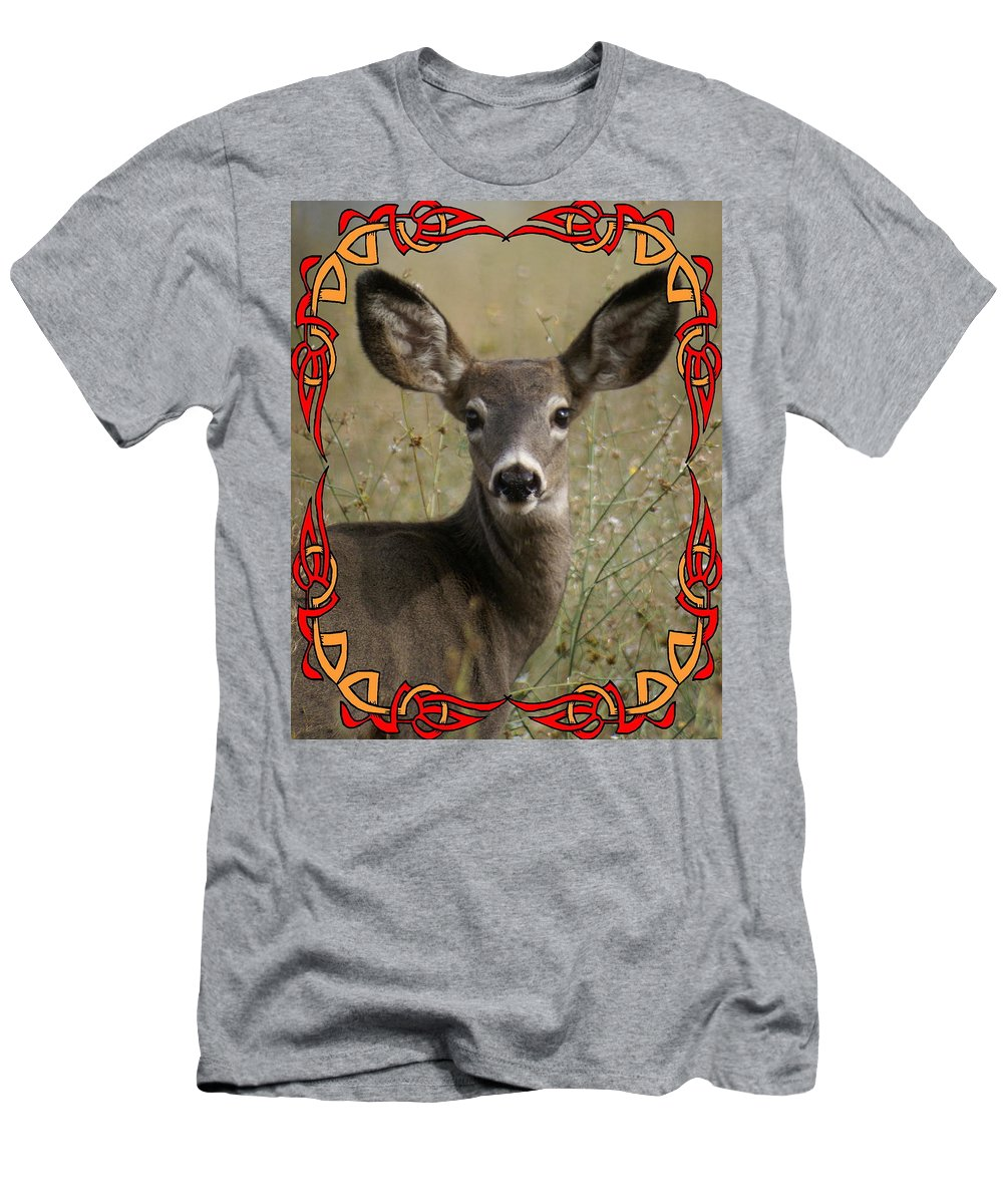Deer Men's T-Shirt (Athletic Fit) featuring the photograph Portrait Of Bambi by Ben Upham III