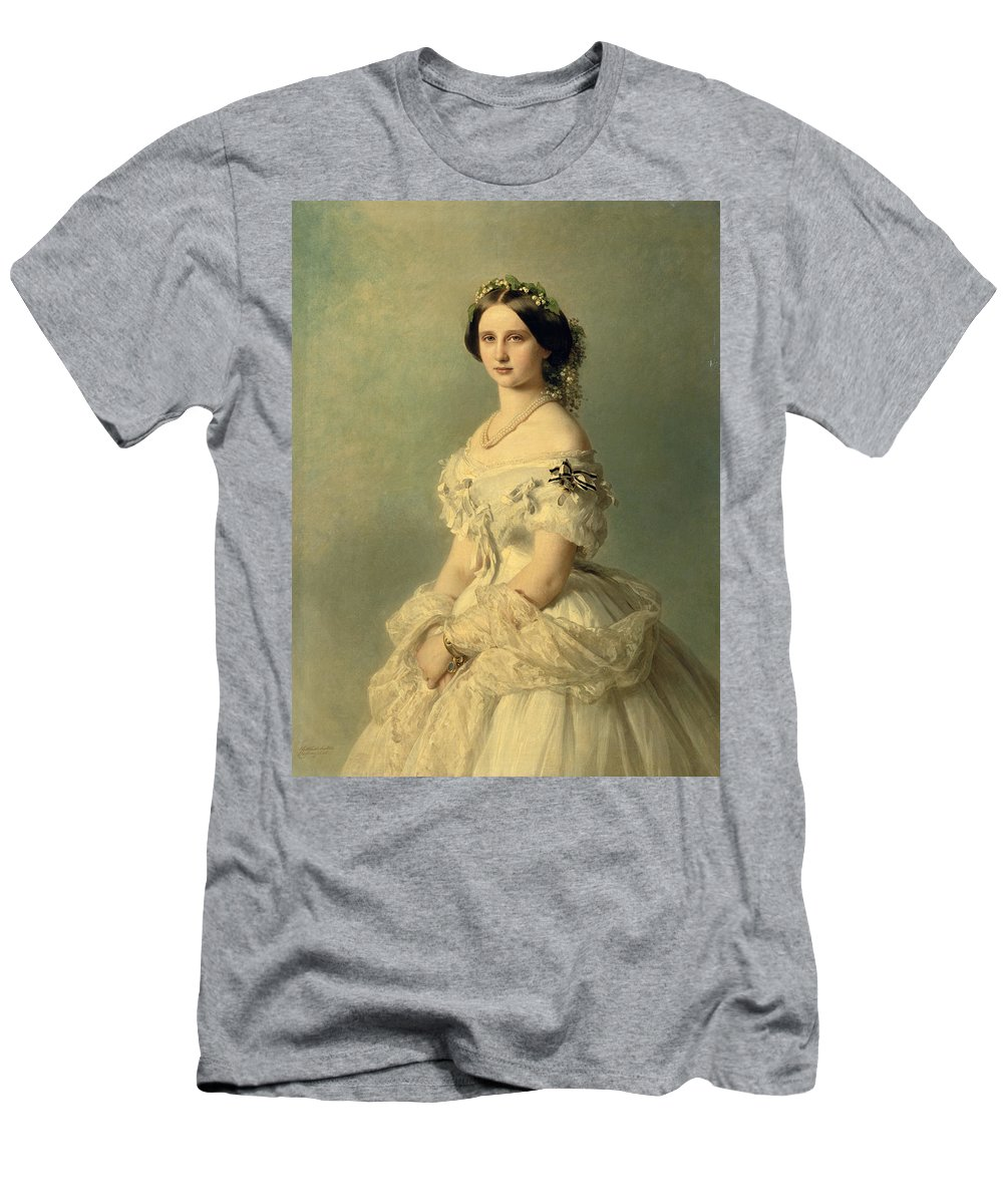 Portrait Men's T-Shirt (Athletic Fit) featuring the painting Portrait Of Princess Of Baden by Franz Xaver Winterhalter