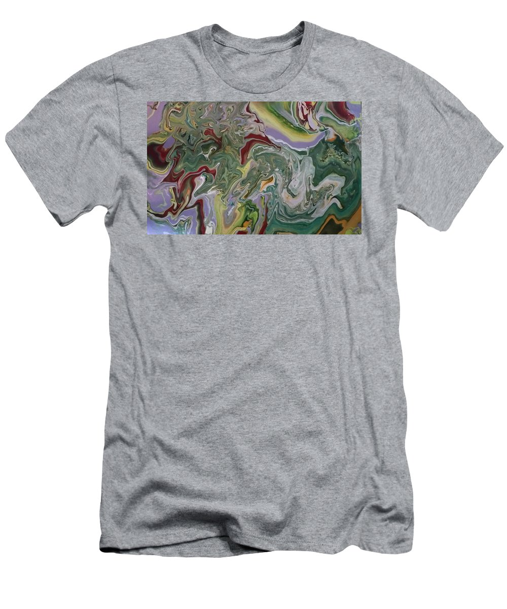 Acrylic Pour Abstract T-Shirt featuring the painting Pour 4 by Valerie Josi