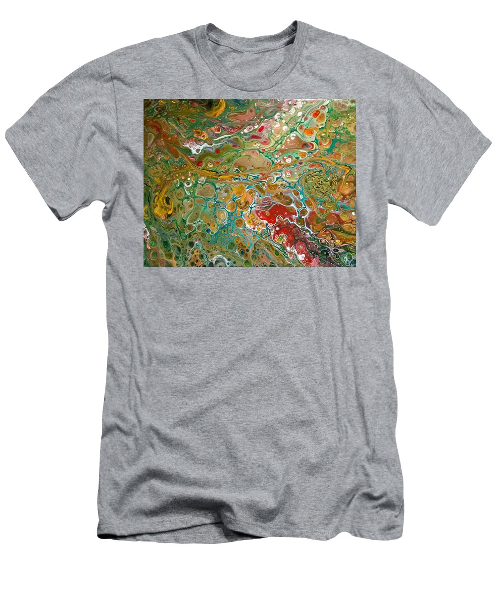 Pour T-Shirt featuring the painting Pour10 by Valerie Josi