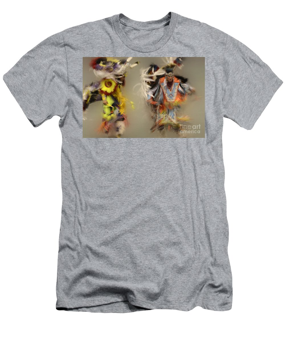 Pow Wow Men's T-Shirt (Athletic Fit) featuring the photograph Pow Wow Beauty Of The Dance 1 by Bob Christopher