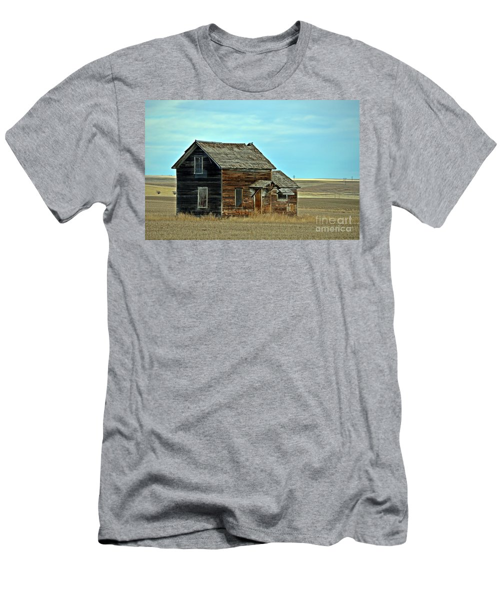 Prairie Home Men's T-Shirt (Athletic Fit) featuring the photograph Prairie Home by Chalet Roome-Rigdon