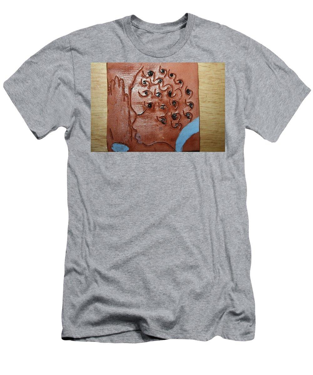 Jesus Men's T-Shirt (Athletic Fit) featuring the ceramic art Prayer 35  - Tile by Gloria Ssali