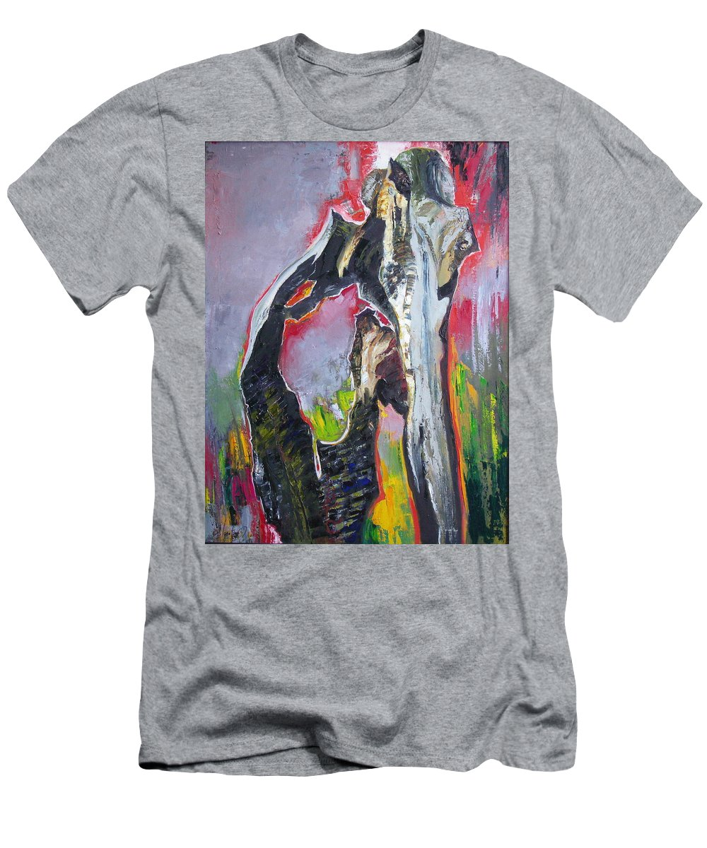Oil Men's T-Shirt (Athletic Fit) featuring the painting Presentiment by Sergey Ignatenko