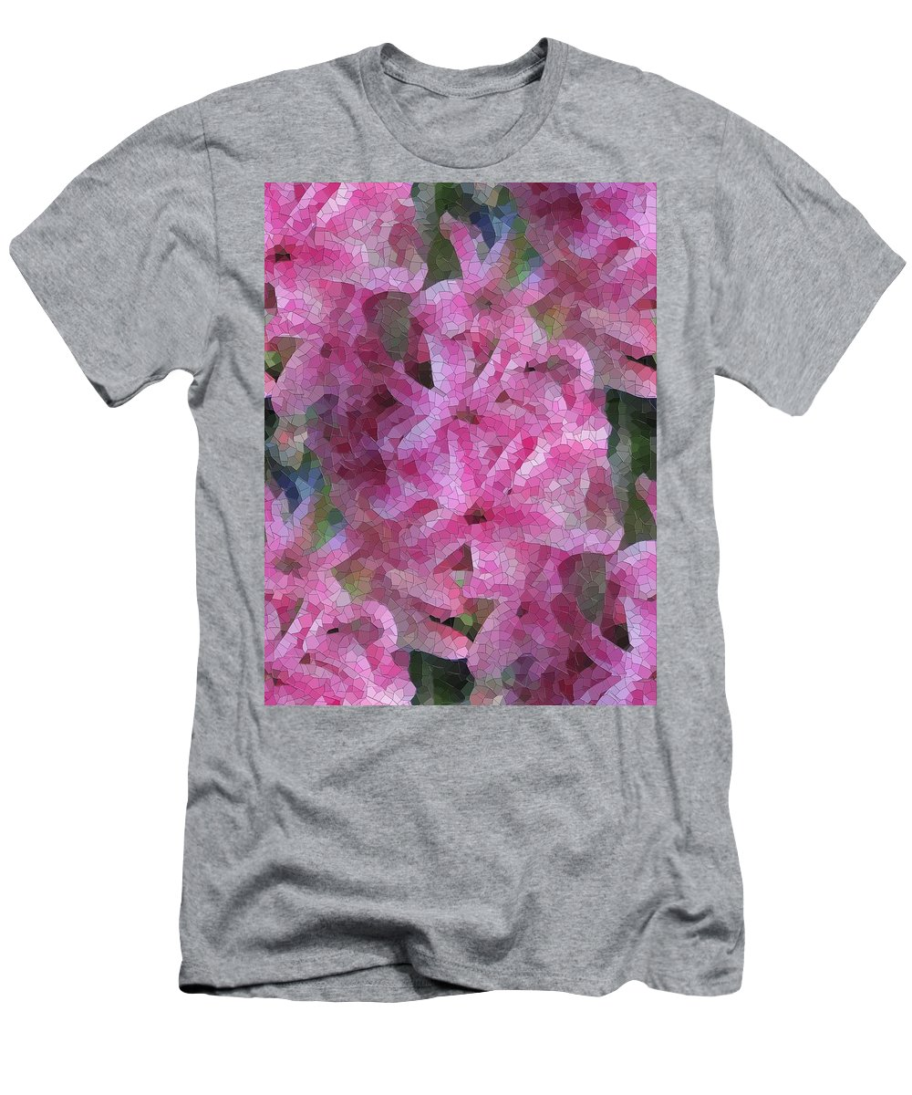 Flowers Men's T-Shirt (Athletic Fit) featuring the digital art Pretty In Pink by Tim Allen