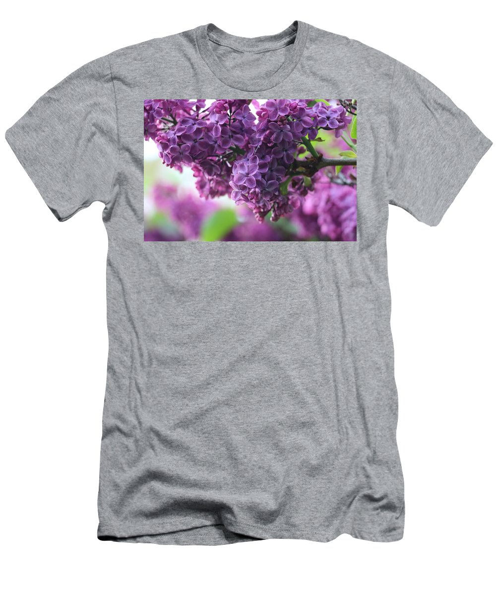 Lilac Men's T-Shirt (Athletic Fit) featuring the photograph Pretty In Purple by Gralyn Haller