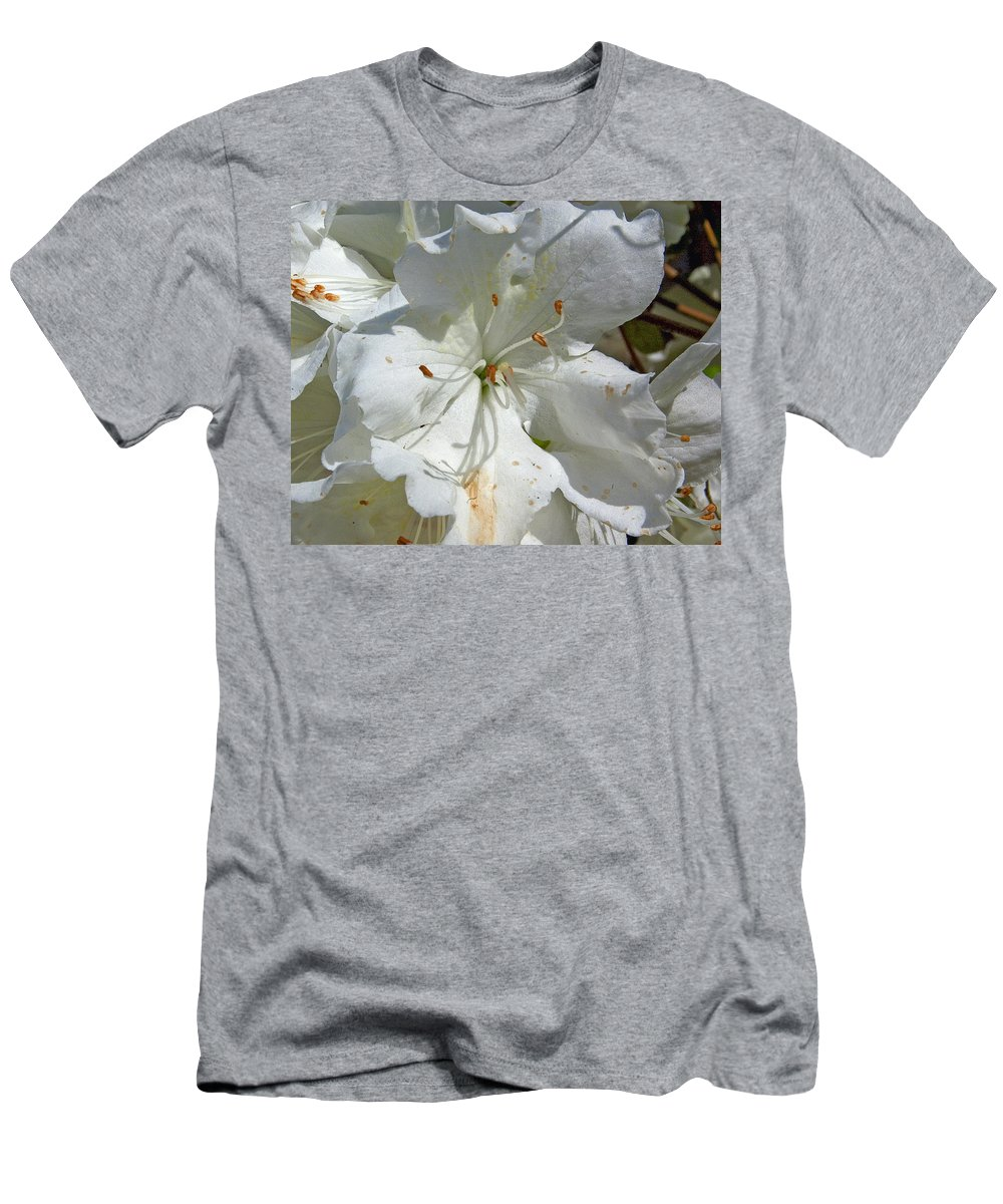 Flower T-Shirt featuring the photograph Pretty In White by Gary Adkins