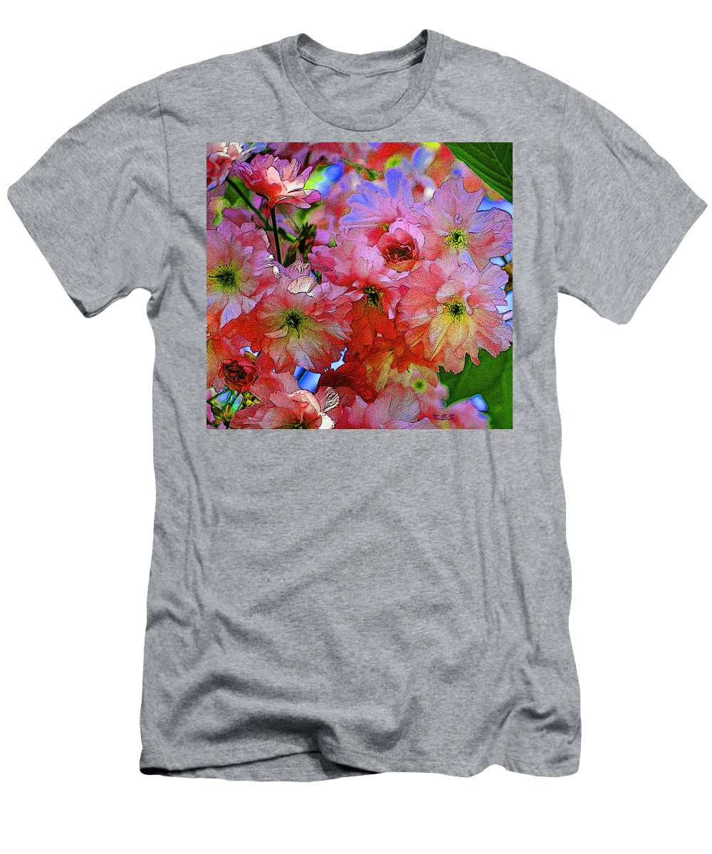 Petals Men's T-Shirt (Athletic Fit) featuring the painting Pretty Petals by Kathy Symonds