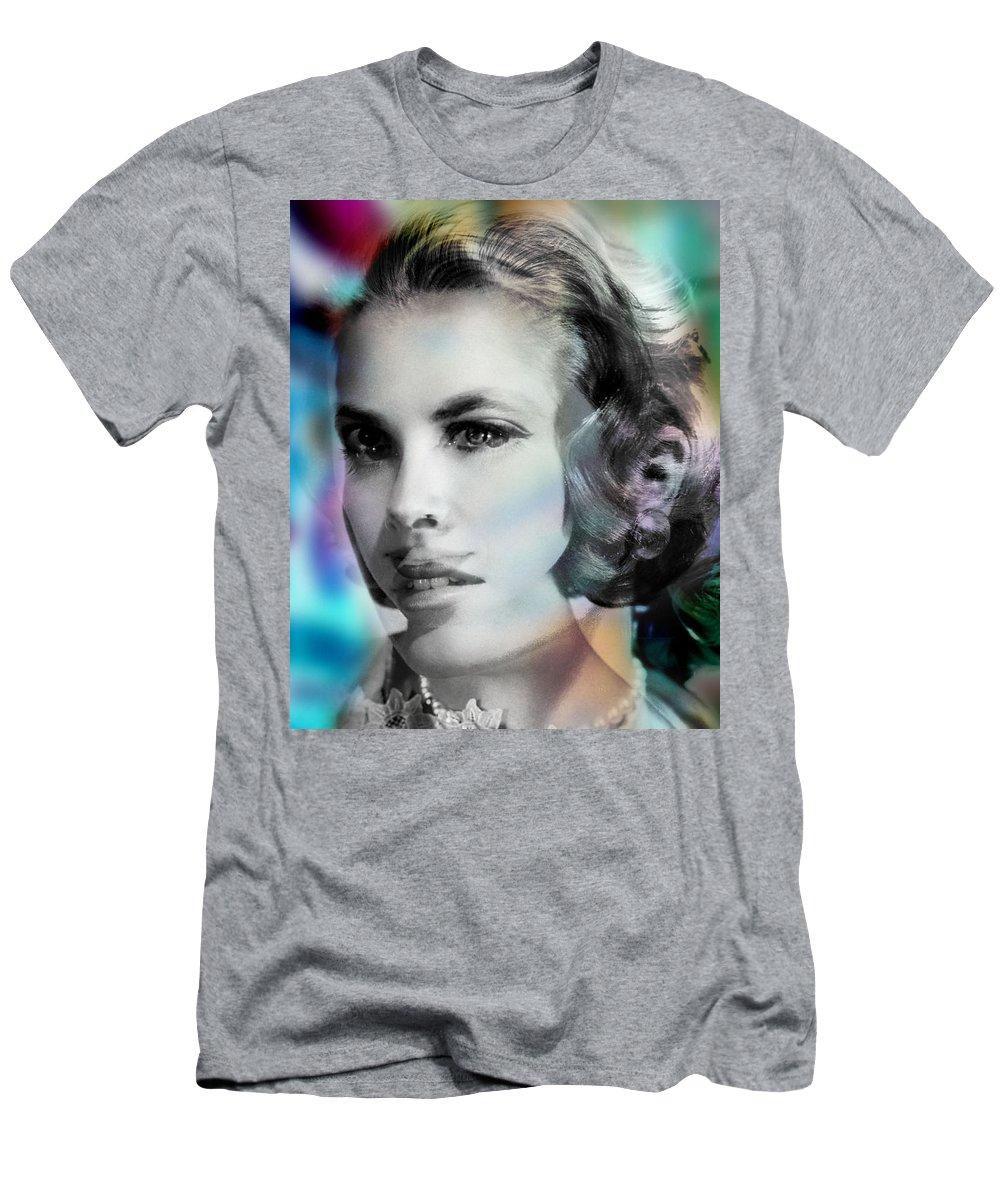 Portrait Men's T-Shirt (Athletic Fit) featuring the painting Princess Claudia Vinci by Maciej Mackiewicz