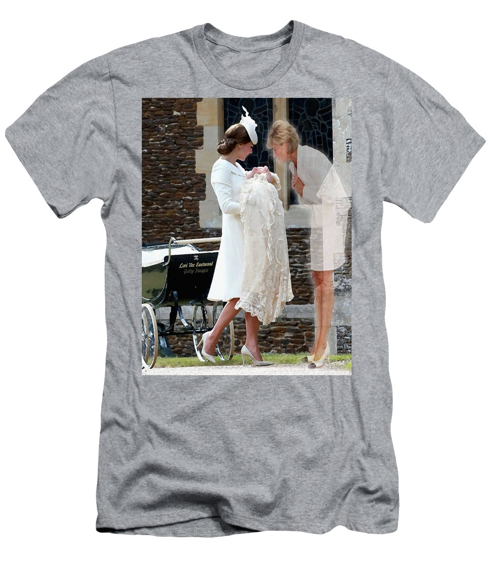 Princess Diana Men's T-Shirt (Athletic Fit) featuring the painting Princess Diana - Viral Image by Lori Vee Eastwood Designs for Hope