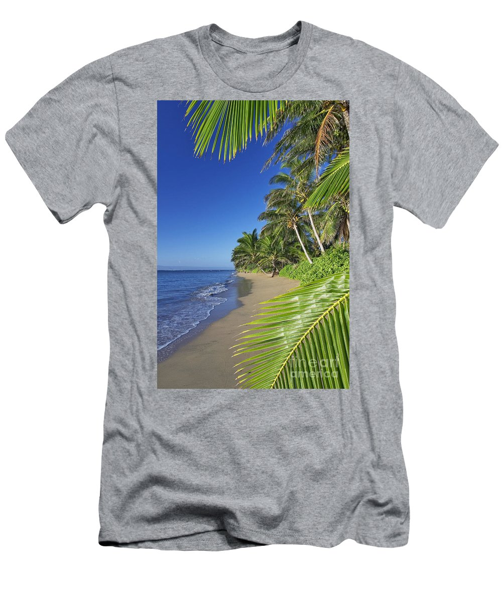 Afternoon Men's T-Shirt (Athletic Fit) featuring the photograph Private Molokai Beach by Dave Fleetham - Printscapes