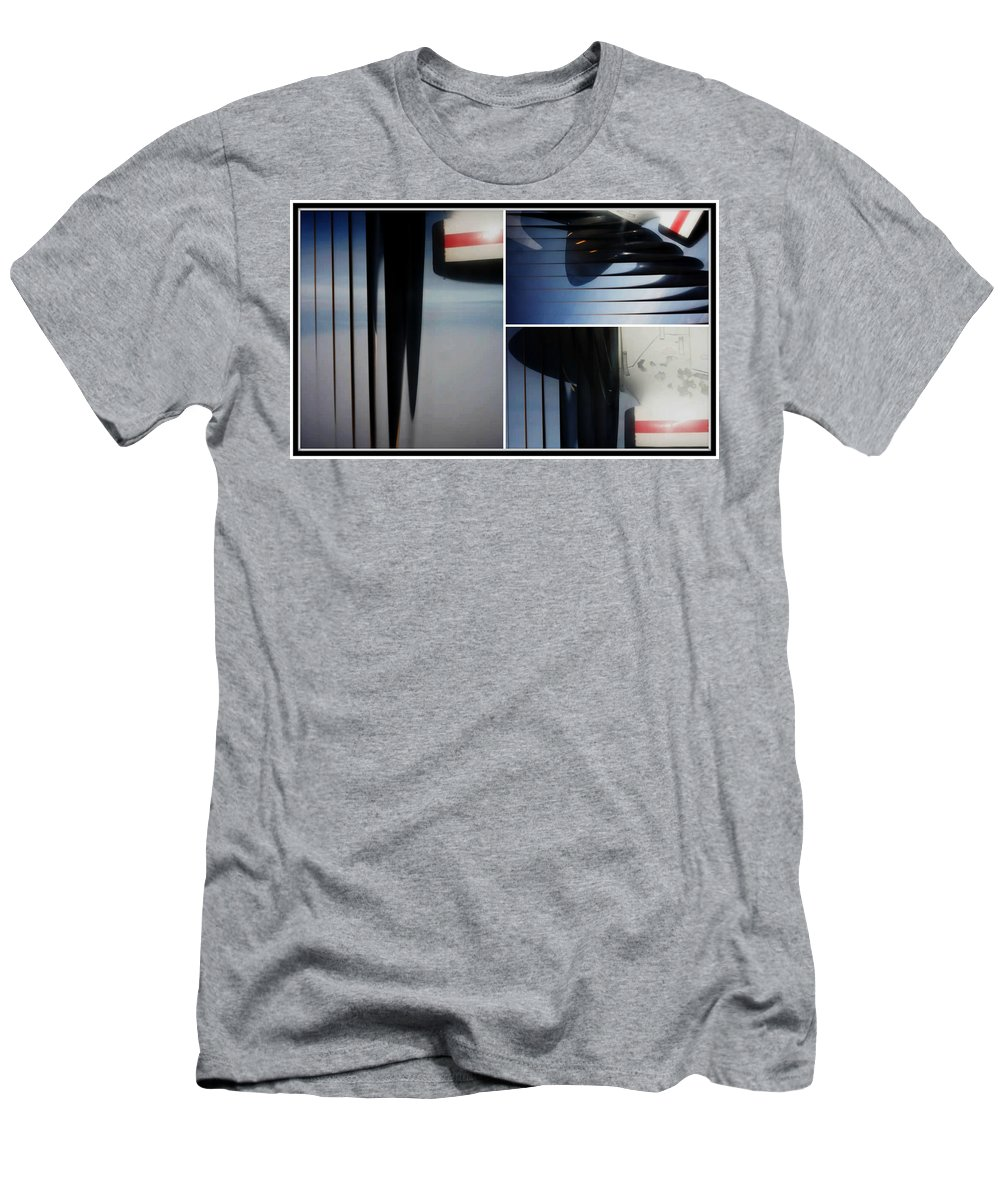 Airplane Propellers Men's T-Shirt (Athletic Fit) featuring the photograph Propeller Collage by Lori Mahaffey