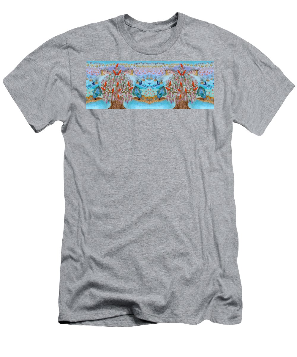 Tree Of Life Men's T-Shirt (Athletic Fit) featuring the painting Prosperity And Blessing by Sandrine Kespi