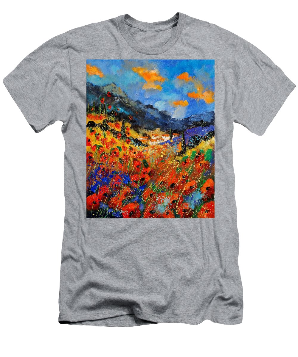 Men's T-Shirt (Athletic Fit) featuring the painting Provence 459020 by Pol Ledent