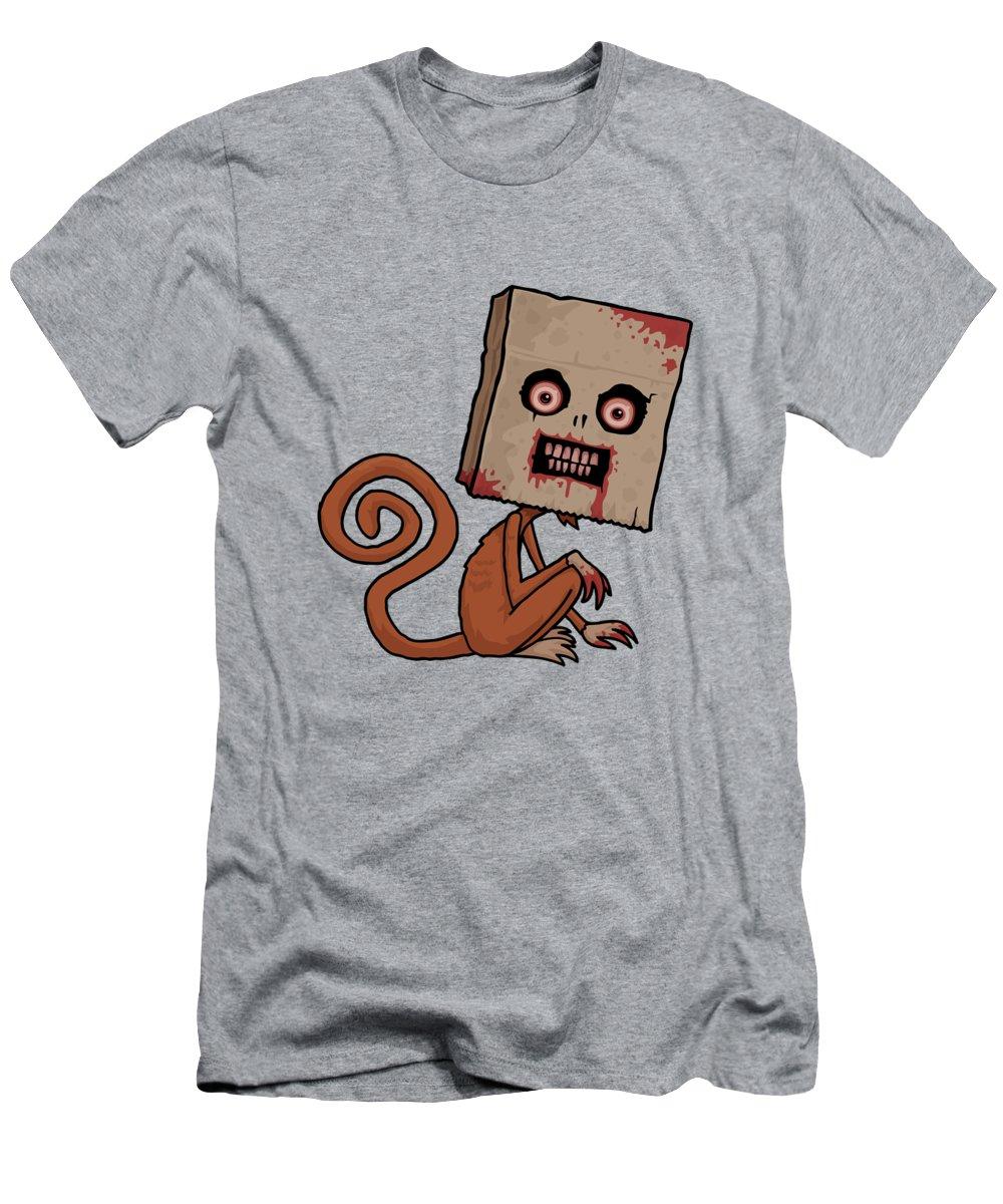 Monkey Men's T-Shirt (Athletic Fit) featuring the digital art Psycho Sack Monkey by John Schwegel