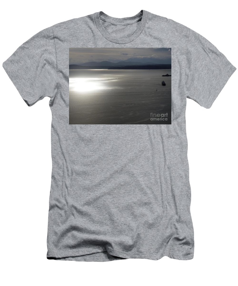 Puget Sound Men's T-Shirt (Athletic Fit) featuring the photograph Puget Sound 1 by John Franke
