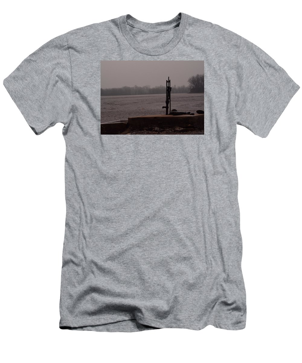 Landscape Men's T-Shirt (Athletic Fit) featuring the photograph Pump From The Past by Pamela Peters