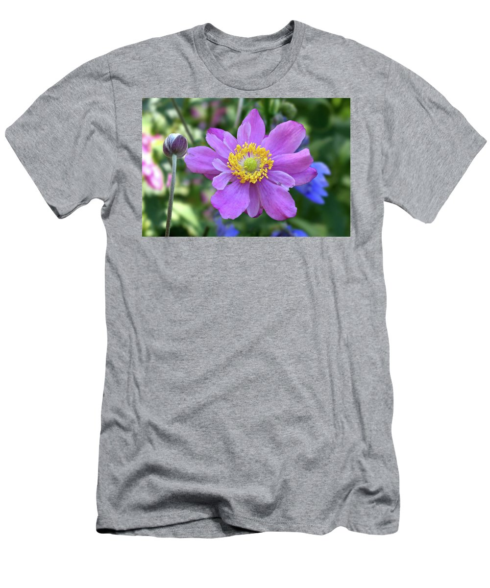 Purple Men's T-Shirt (Athletic Fit) featuring the photograph Purple Blossom 1 by Nancy Aurand-Humpf