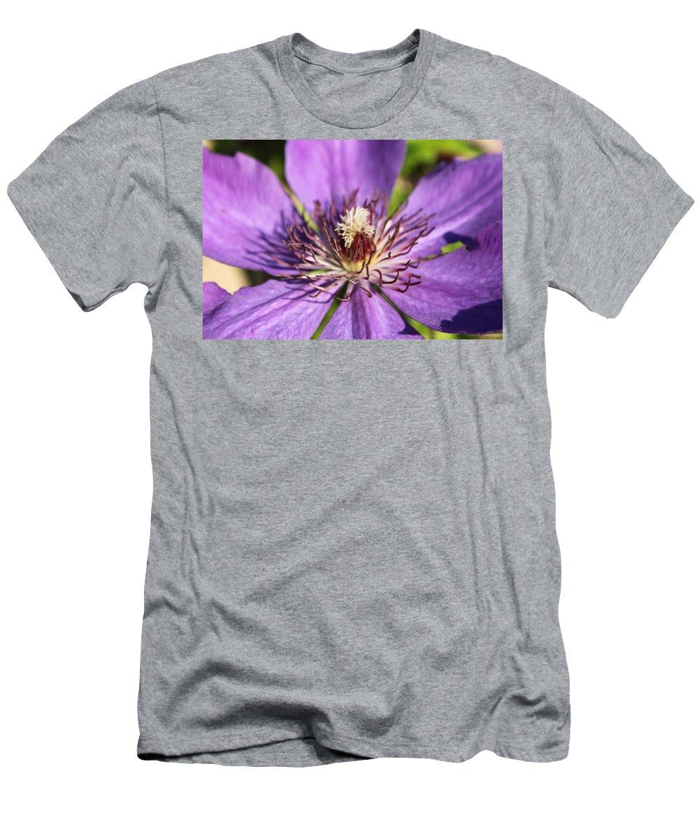 Purple Men's T-Shirt (Athletic Fit) featuring the photograph Purple Flower by Lauri Novak