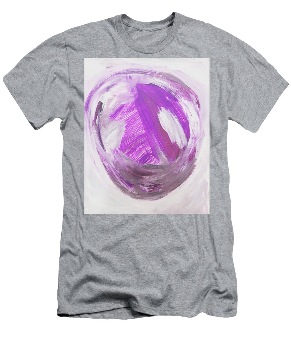 Men's T-Shirt (Athletic Fit) featuring the painting Purple by Nicole Saenz
