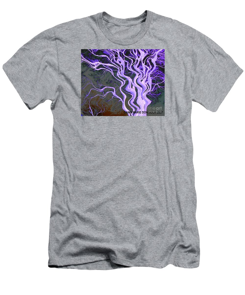 Tree Men's T-Shirt (Athletic Fit) featuring the photograph Purple Tree by Dawn Downour