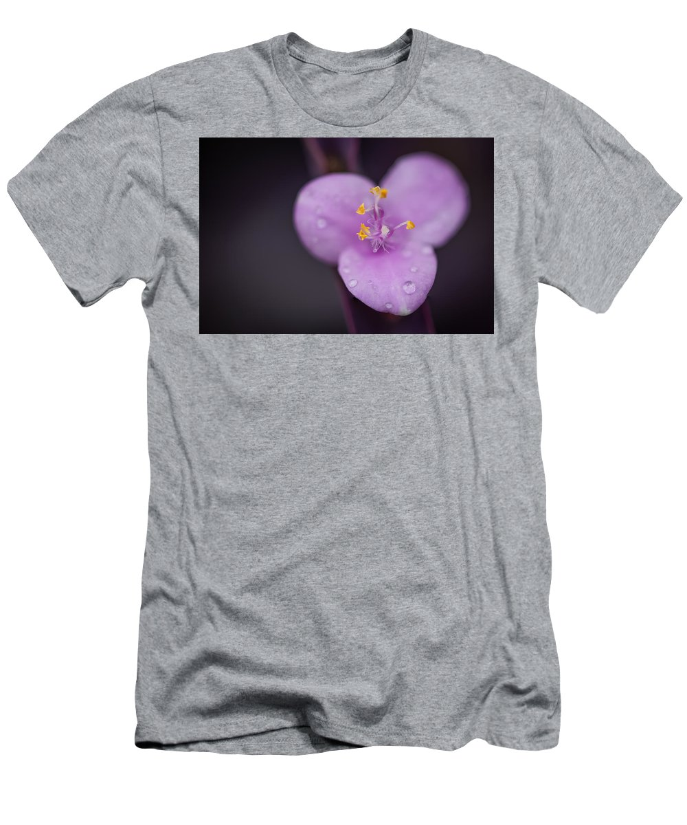 Men's T-Shirt (Athletic Fit) featuring the photograph Purple Wandering Jew by David Downs