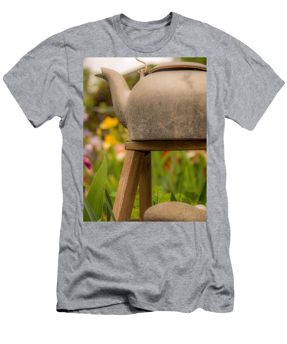 Fine Art Men's T-Shirt (Athletic Fit) featuring the photograph Put The Kettle On by Michele James