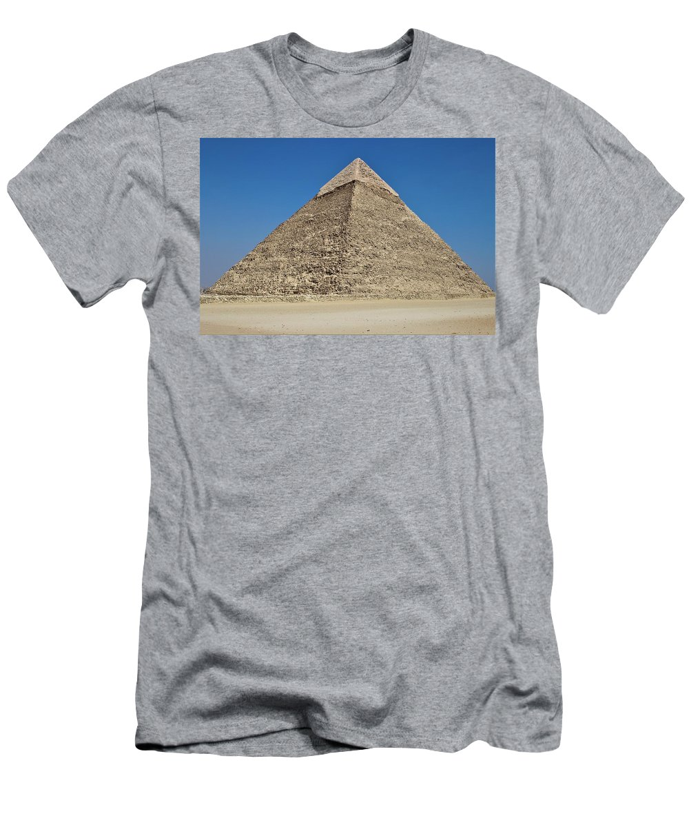 Pyramid Men's T-Shirt (Athletic Fit) featuring the photograph Pyramid by Dave Lees