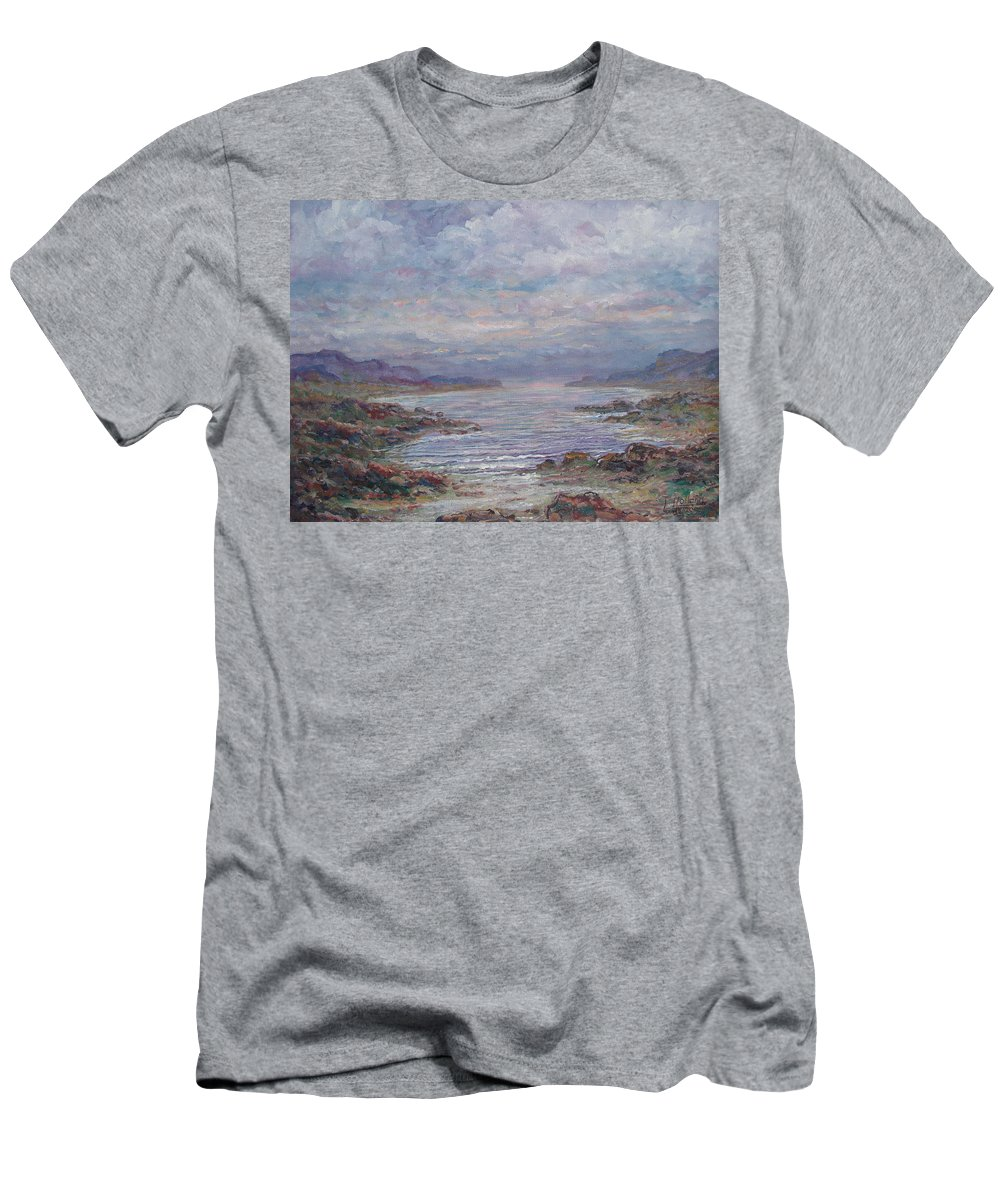 Painting Men's T-Shirt (Athletic Fit) featuring the painting Quiet Bay. by Leonard Holland