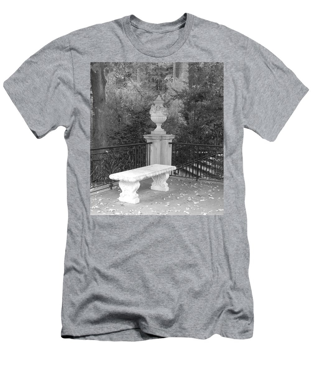 Black And White Men's T-Shirt (Athletic Fit) featuring the photograph Quiet Corner by Jessica Weist