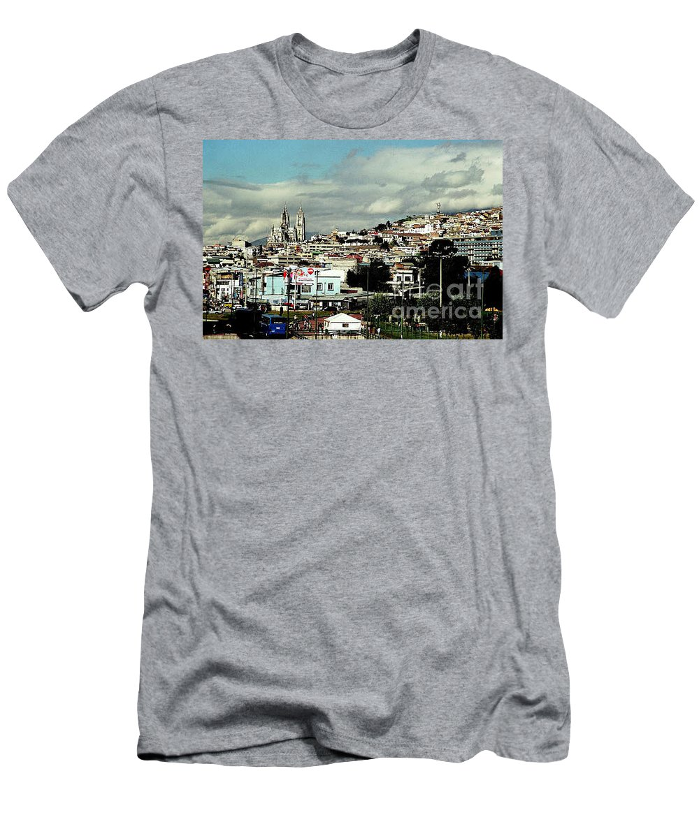 Ecuador Men's T-Shirt (Athletic Fit) featuring the photograph Quito by Kathy McClure