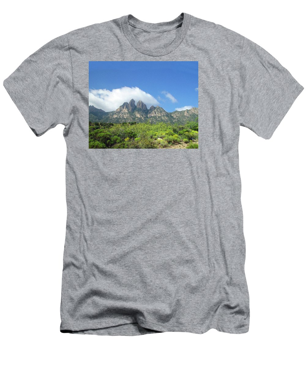 Lonely Road T-Shirt featuring the photograph Organ Mountains Rabbit Ears by Jack Pumphrey