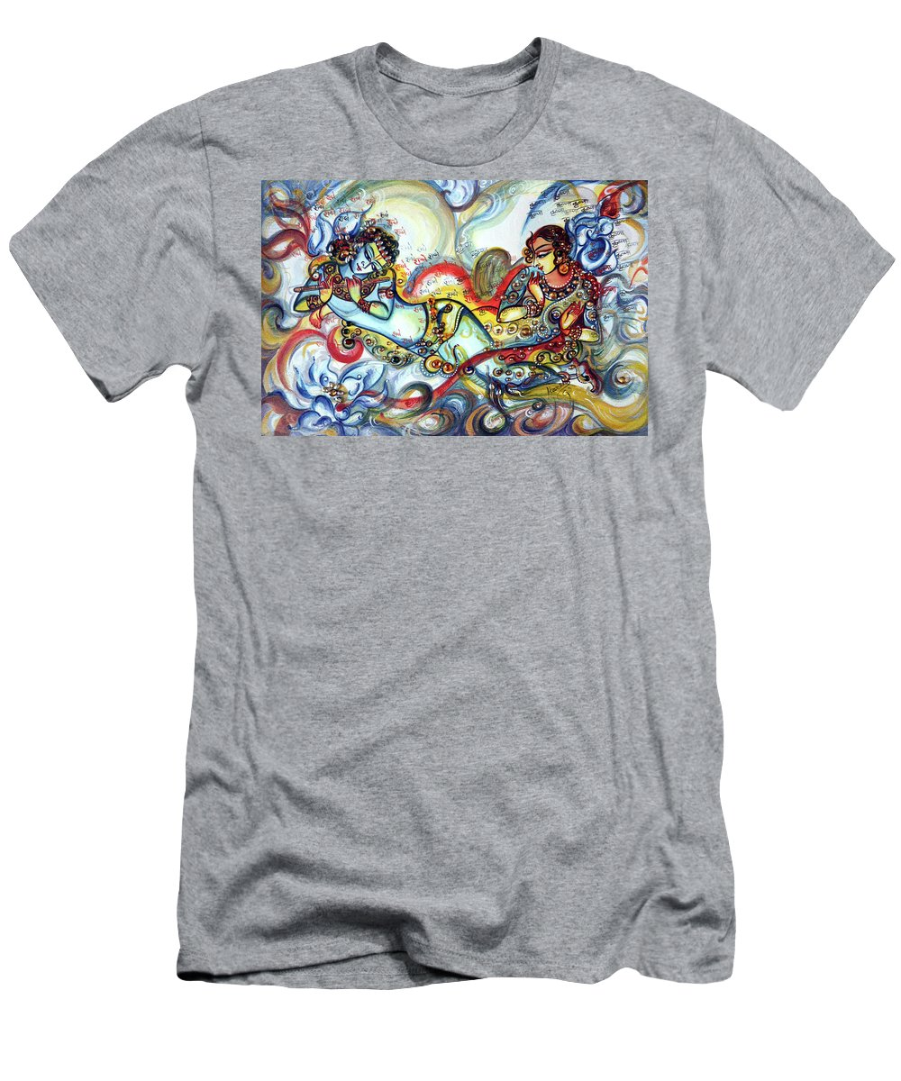 e1c6d429 Krishna Men's T-Shirt (Athletic Fit) featuring the painting Radha Krishna -  Flute