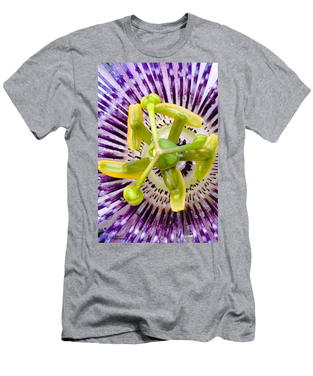 Passion Men's T-Shirt (Athletic Fit) featuring the photograph Radial Arms by Christopher Holmes