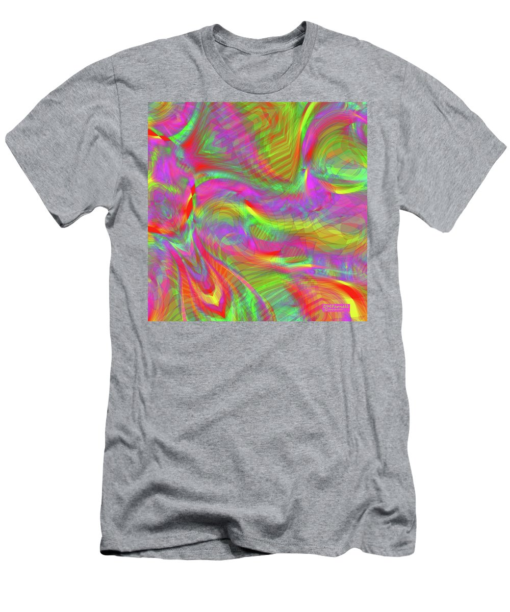 Rainbow Men's T-Shirt (Athletic Fit) featuring the digital art Rainbowlicious by Diane Parnell