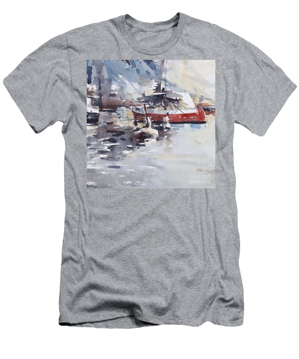 Stockholm Men's T-Shirt (Athletic Fit) featuring the painting Ramso,stockholm by Tony Belobrajdic