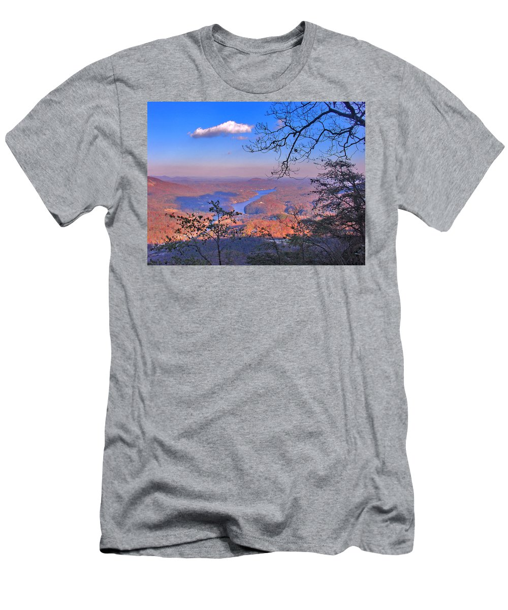 Landscape Men's T-Shirt (Athletic Fit) featuring the photograph Reaching For A Cloud by Steve Karol