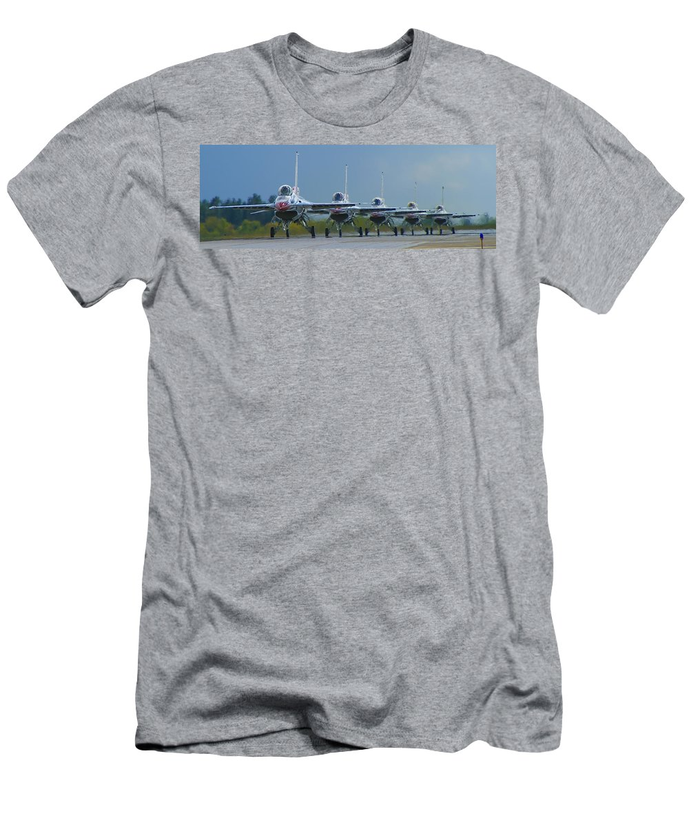 F-16 Men's T-Shirt (Athletic Fit) featuring the photograph Ready For Takeoff by Bob Mintie