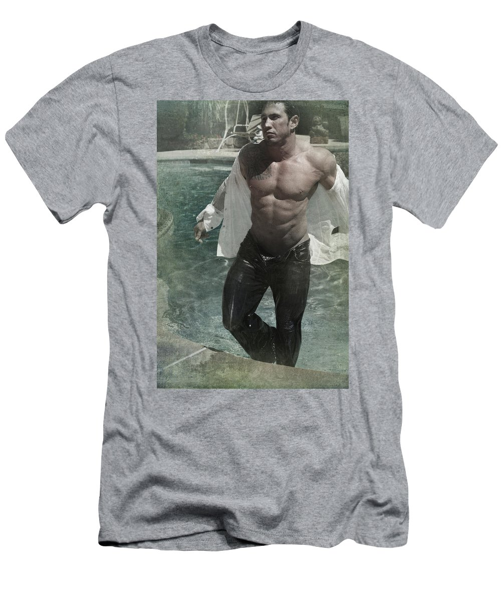 Man Men's T-Shirt (Athletic Fit) featuring the photograph Ready Or Not by Laurie Search