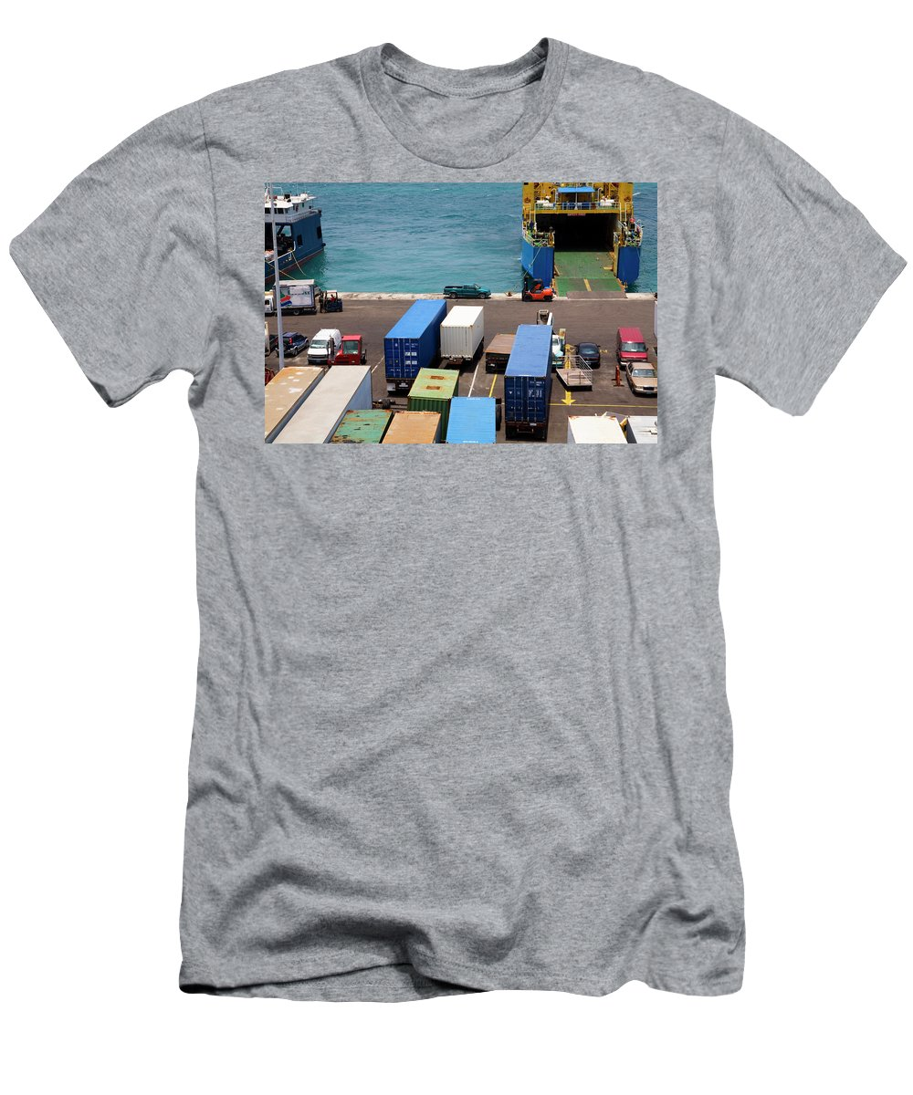 Container Men's T-Shirt (Athletic Fit) featuring the photograph Ready To Ship by Diane Macdonald
