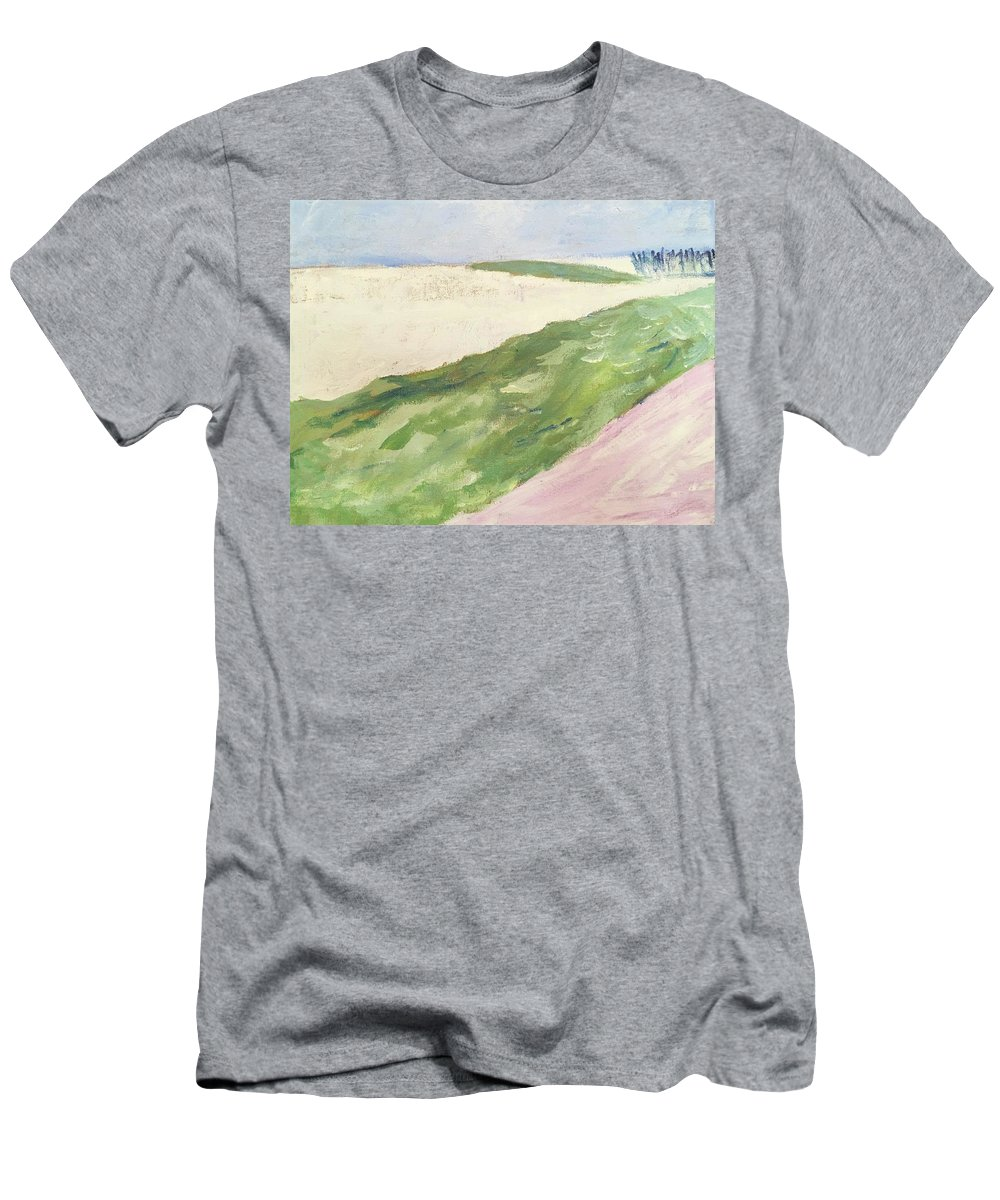 Landscape Men's T-Shirt (Athletic Fit) featuring the painting Recompense by Angela Annas