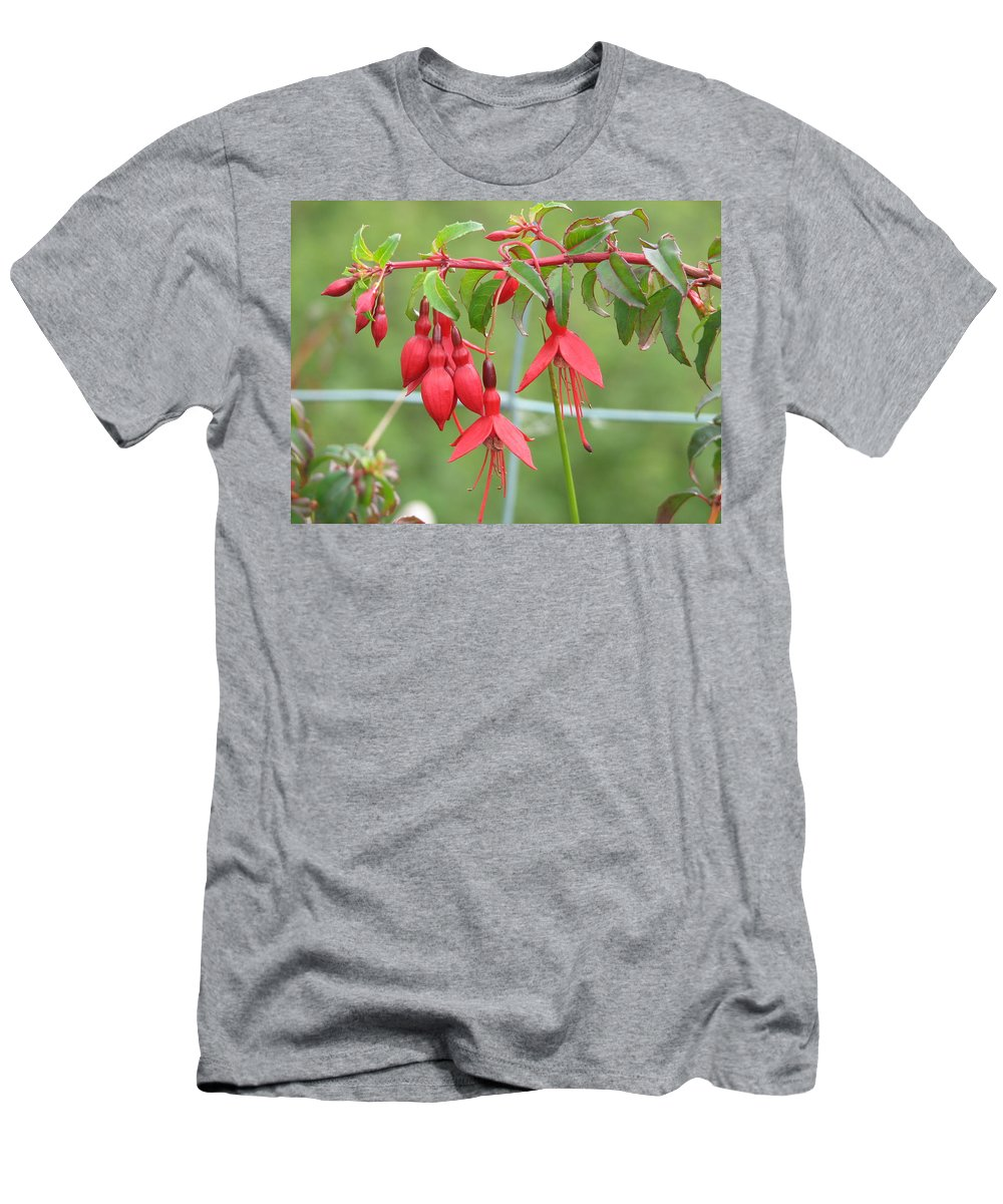 Fresia T-Shirt featuring the photograph Red Fresia by Kelly Mezzapelle