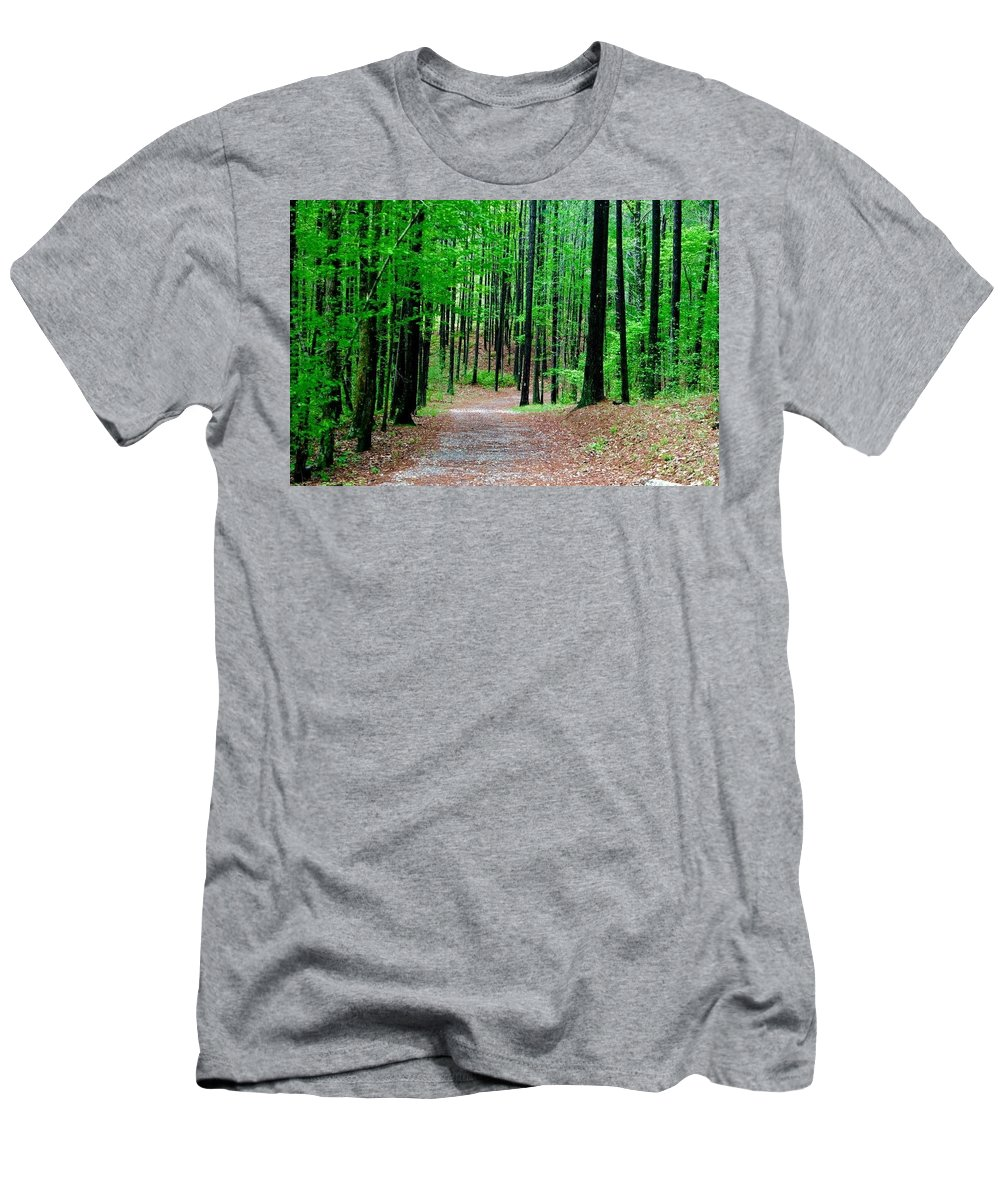 Men's T-Shirt (Athletic Fit) featuring the photograph Red Mountain Trail by Richard Brooke