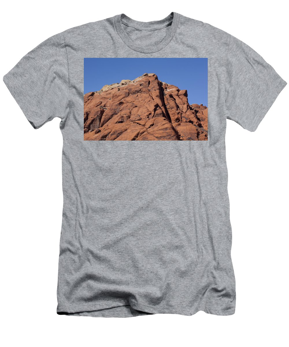 Rocks Men's T-Shirt (Athletic Fit) featuring the photograph Red Rocks by Kelley King