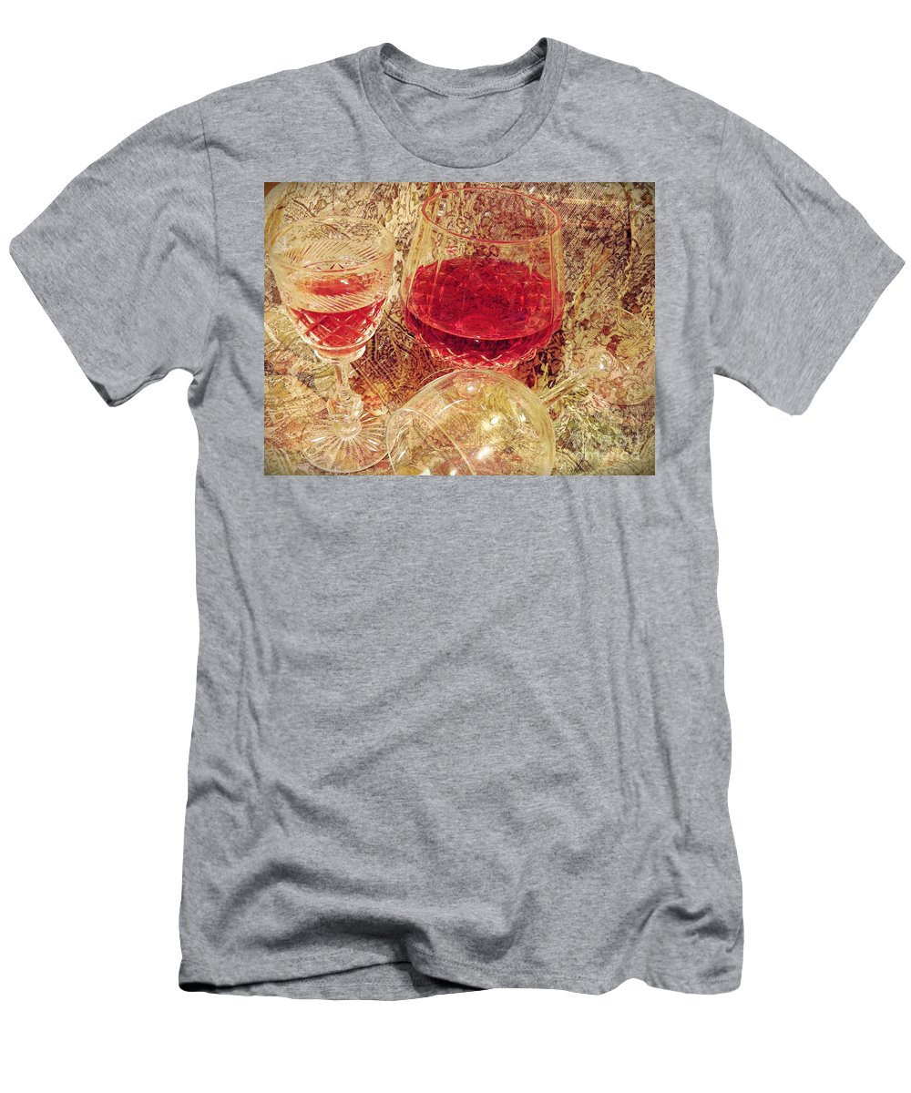 Wine Men's T-Shirt (Athletic Fit) featuring the photograph Red Wine 3 by Sarah Loft