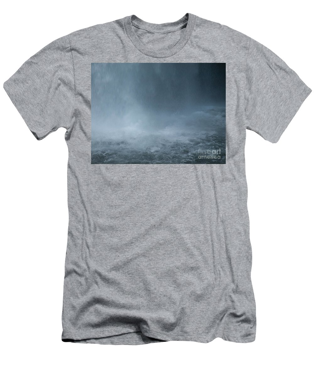 Waterfall Men's T-Shirt (Athletic Fit) featuring the photograph Refreshing by Shari Nees