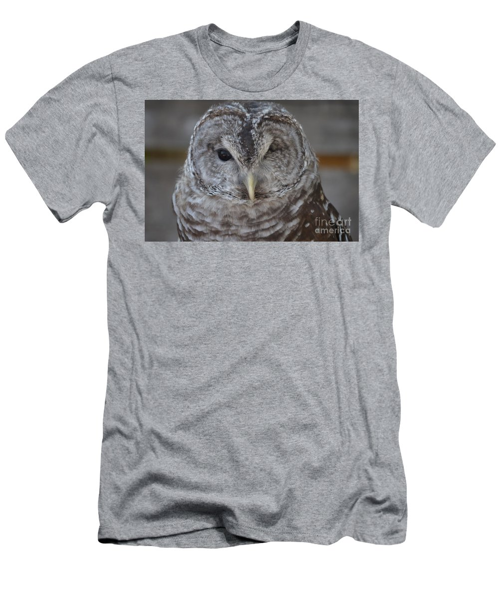 Rescue Men's T-Shirt (Athletic Fit) featuring the photograph Rescue Owl by Jodie Sims