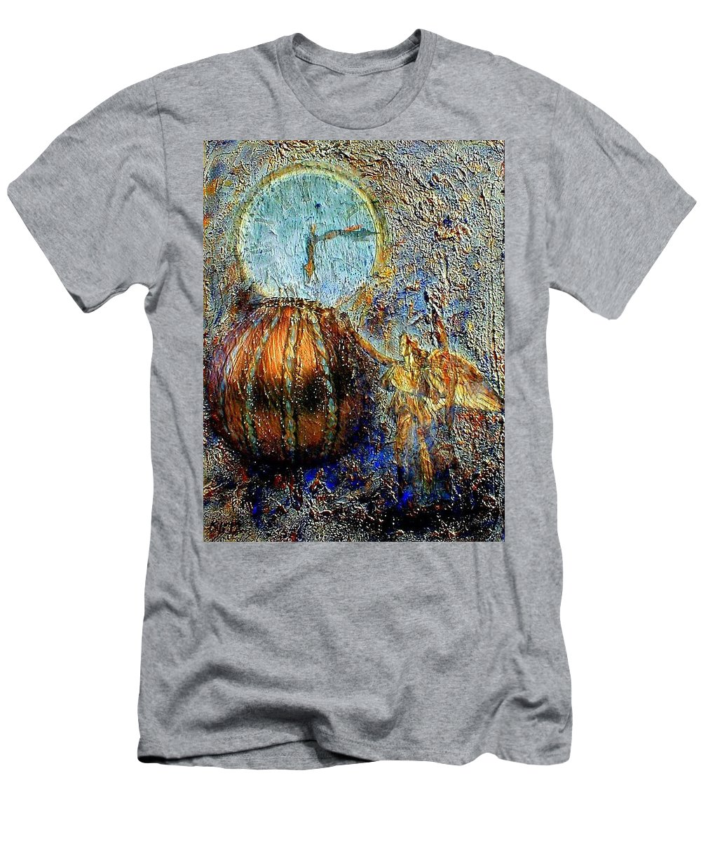 Christian Men's T-Shirt (Athletic Fit) featuring the mixed media Revelation by Gail Kirtz